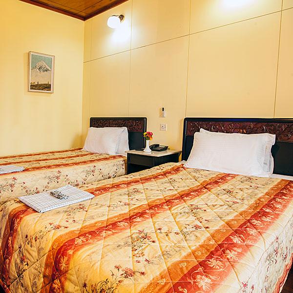 Western Style Twin Bedded Room